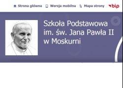 Ogłoszenie o pracę - sprzątaczka - Szkoła Podstawowa im. św. Jana Pawła II w Moskurni