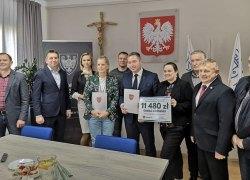 Uroczyste podpisanie umowy  na udzielenie z budżetu Województwa Wielkopolskiego pomocy finansowej w formie dotacji celowej.